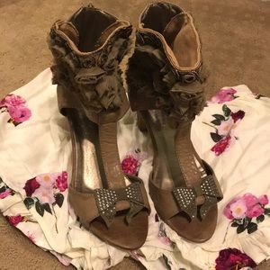 Shoes - Funky open toed ankle boots